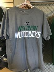 2020 Wisconsin Woodhucks Grey T-shirt